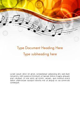 Classical Music Word Template Cover Page