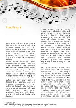 Classical Music Word Template Second Inner Page
