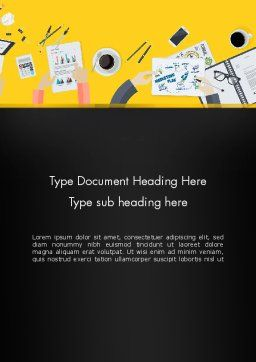 Office Meeting Top View Word Template, Cover Page, 13808, Business — PoweredTemplate.com