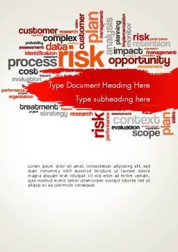 Risk Management Word Cloud Word Template, Cover Page, 13809, Consulting — PoweredTemplate.com