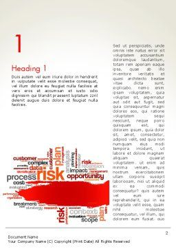 Risk Management Word Cloud Word Template, First Inner Page, 13809, Consulting — PoweredTemplate.com