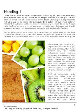 Fruits Collage Word Template, First Inner Page, 13811, Food & Beverage — PoweredTemplate.com
