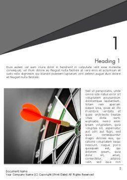 Perfect Hit Word Template, First Inner Page, 13812, Consulting — PoweredTemplate.com