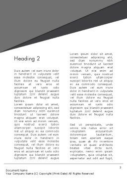 Perfect Hit Word Template, Second Inner Page, 13812, Consulting — PoweredTemplate.com