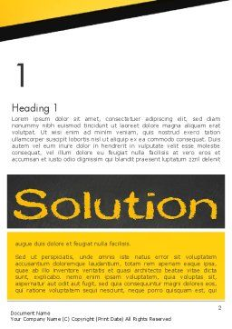 Solution Word Template, First Inner Page, 13815, Business Concepts — PoweredTemplate.com
