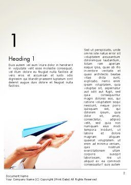 New Issue Concept Word Template, First Inner Page, 13816, Business Concepts — PoweredTemplate.com