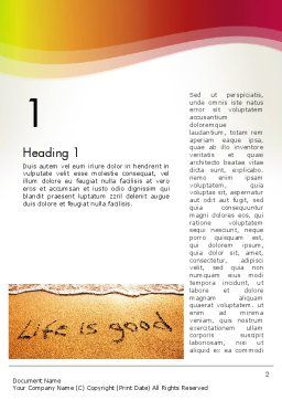 Happiest Moment Word Template, First Inner Page, 13819, Holiday/Special Occasion — PoweredTemplate.com
