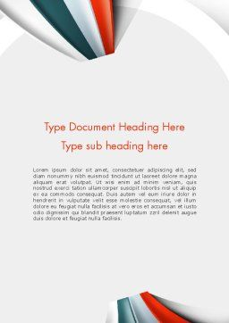 Strips Through the Paper Word Template, Cover Page, 13820, Business — PoweredTemplate.com