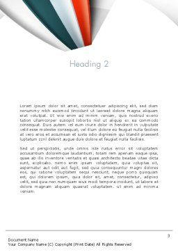 Strips Through the Paper Word Template, Second Inner Page, 13820, Business — PoweredTemplate.com