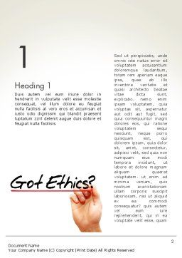 Ethical Code Word Template, First Inner Page, 13823, Business — PoweredTemplate.com