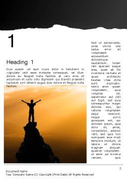 Personal Success Word Template First Inner Page