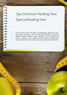 Calories Count Word Template, Cover Page, 13829, Sports — PoweredTemplate.com
