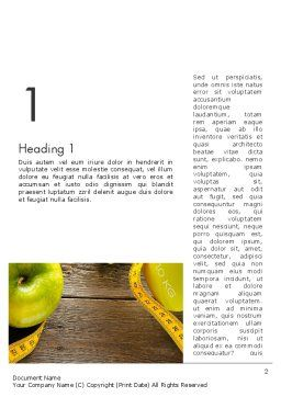 Calories Count Word Template, First Inner Page, 13829, Sports — PoweredTemplate.com