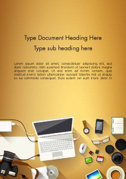 Digitizing Photos Word Template, Cover Page, 13836, Careers/Industry — PoweredTemplate.com