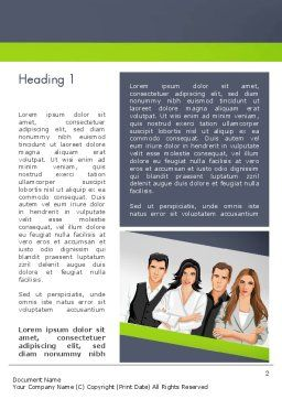 Young People Illustration Word Template First Inner Page