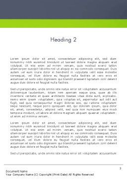 Young People Illustration Word Template Second Inner Page