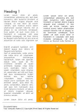 Orange Water Bubbles Word Template, First Inner Page, 13847, Food & Beverage — PoweredTemplate.com