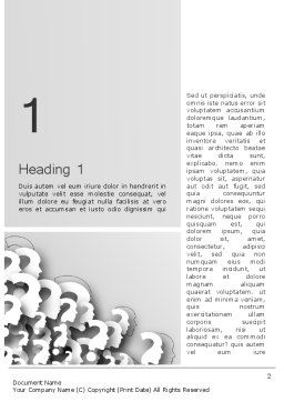 Faces With Question Marks Word Template, First Inner Page, 13848, Business Concepts — PoweredTemplate.com