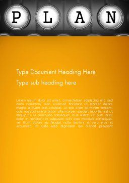Types of Planning Word Template, Cover Page, 13855, Business — PoweredTemplate.com