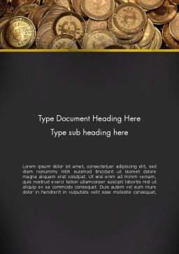 Digital Currency Word Template, Cover Page, 13856, Financial/Accounting — PoweredTemplate.com