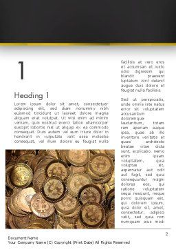 Digital Currency Word Template First Inner Page