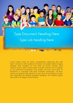 Diverse Preschool Children Word Template Cover Page