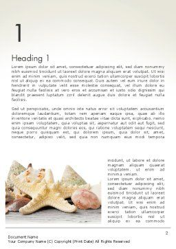 Starfish with Shells Word Template First Inner Page