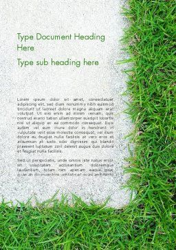 Grass and Concrete Word Template, Cover Page, 13868, Nature & Environment — PoweredTemplate.com