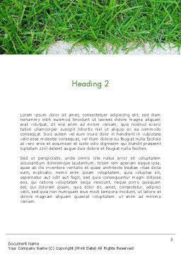 Grass and Concrete Word Template, Second Inner Page, 13868, Nature & Environment — PoweredTemplate.com