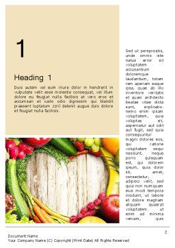 Love Fruit and Veg Word Template, First Inner Page, 13871, Agriculture and Animals — PoweredTemplate.com