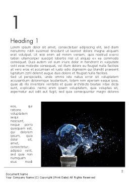 Glass Explosion Word Template, First Inner Page, 13879, Education & Training — PoweredTemplate.com