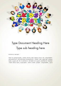 Hello Kindergarten Word Template, Cover Page, 13883, Education & Training — PoweredTemplate.com