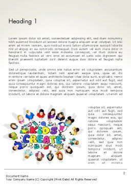 Hello Kindergarten Word Template, First Inner Page, 13883, Education & Training — PoweredTemplate.com