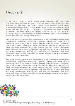 Hello Kindergarten Word Template, Second Inner Page, 13883, Education & Training — PoweredTemplate.com