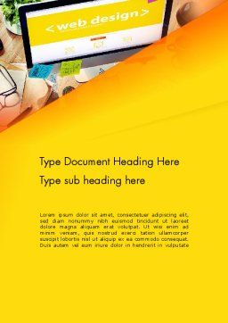 Web Design Services Word Template, Cover Page, 13884, Careers/Industry — PoweredTemplate.com