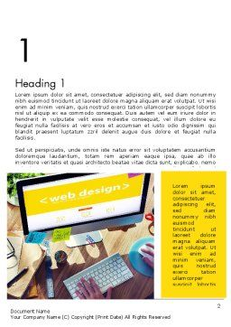 Web Design Services Word Template, First Inner Page, 13884, Careers/Industry — PoweredTemplate.com