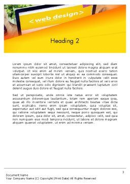 Web Design Services Word Template, Second Inner Page, 13884, Careers/Industry — PoweredTemplate.com