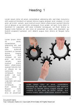 Gears Engagement Word Template, First Inner Page, 13886, Business Concepts — PoweredTemplate.com