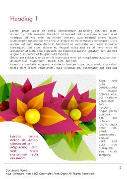 Abstract Flower Word Template First Inner Page