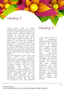Abstract Flower Word Template Second Inner Page