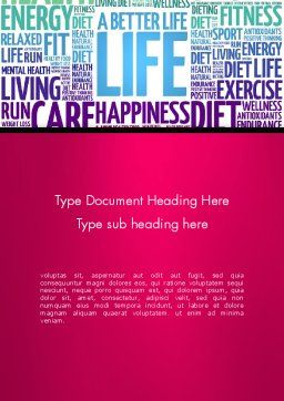 A Better Life Word Cloud Word Template, Cover Page, 13889, Sports — PoweredTemplate.com