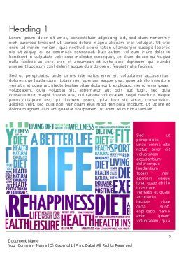 A Better Life Word Cloud Word Template, First Inner Page, 13889, Sports — PoweredTemplate.com