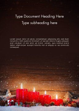 Christmas Candlelight Word Template, Cover Page, 13892, Holiday/Special Occasion — PoweredTemplate.com