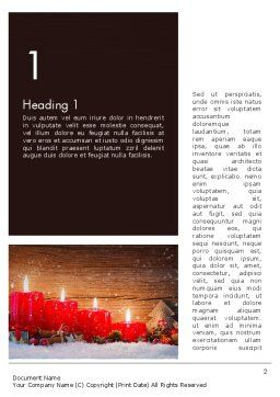 Christmas Candlelight Word Template, First Inner Page, 13892, Holiday/Special Occasion — PoweredTemplate.com
