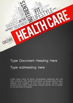 Health Care Word Cloud Word Template, Cover Page, 13896, Medical — PoweredTemplate.com