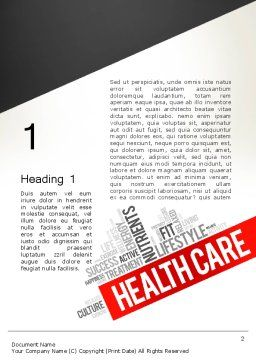 Health Care Word Cloud Word Template, First Inner Page, 13896, Medical — PoweredTemplate.com