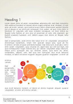 Descriptive Circles Word Template, First Inner Page, 13897, Business — PoweredTemplate.com
