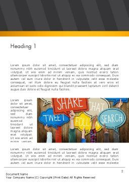 Social Media Word Template, First Inner Page, 13900, Careers/Industry — PoweredTemplate.com