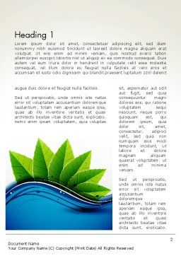 River and Green Leaves Word Template First Inner Page