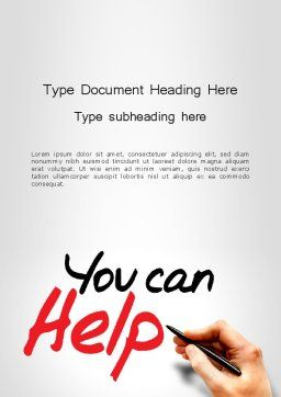 You Can Help Word Template Cover Page